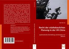 Bookcover of Recht der städtebaulichen Planung in der VR China