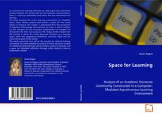 Couverture de Space for Learning