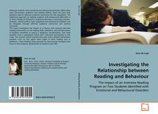 Capa do livro de Investigating the Relationship between Reading and Behaviour