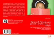 Bookcover of Eignen sich Planspiele, um politische Urteilsbildung zu lernen?