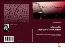 Bookcover of Haftung für User Generated Content