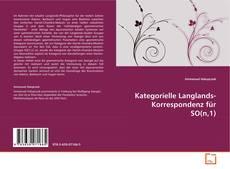 Kategorielle Langlands-Korrespondenz für SO(n,1) kitap kapağı