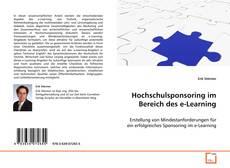 Copertina di Hochschulsponsoring im Bereich des e-Learning