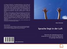 Bookcover of Sprache liegt in der Luft