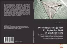 Bookcover of Die Terroranschläge vom 11. September 2001 in den Feuilletons