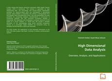 Portada del libro de High Dimensional Data Analysis