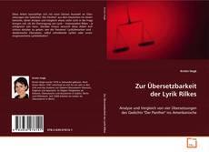 Buchcover von Zur Übersetzbarkeit der Lyrik Rilkes