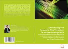Couverture de Anwendung von Semantic-Web Techniken im Wissensmanagement