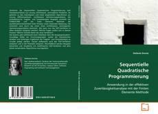 Bookcover of Sequentielle Quadratische Programmierung