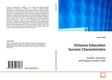 Bookcover of Distance Education Success Characteristics