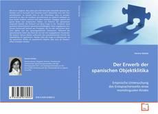 Bookcover of Der Erwerb der spanischen Objektklitika