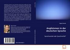 Capa do livro de Anglizismen in der deutschen Sprache