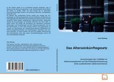 Buchcover von Das Alterseinkünftegesetz
