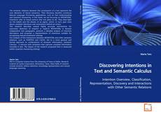 Discovering Intentions in Text and Semantic Calculus kitap kapağı