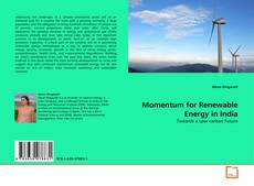Buchcover von Momentum for Renewable Energy in India