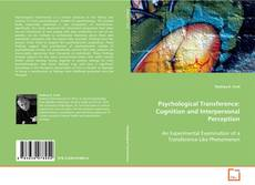 Copertina di Psychological Transference: Cognition and Interpersonal Perception