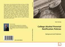 Обложка College Alcohol Parental Notification Policies