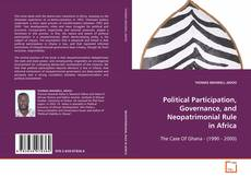 Bookcover of Political Participation, Governance, and Neopatrimonial Rule In Africa