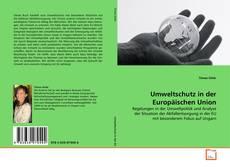 Buchcover von Umweltschutz in der Europäischen Union