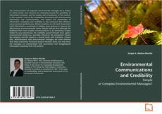 Bookcover of Environmental Communications and Credibility