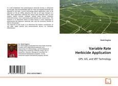 Copertina di Variable Rate Herbicide Application