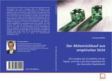 Buchcover von Der Aktienrückkauf aus empirischer Sicht