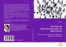 Buchcover von Die Rolle der Unternehmenskultur im M
