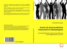 Buchcover von Events als kommunikatives Instrument im Marketingmix