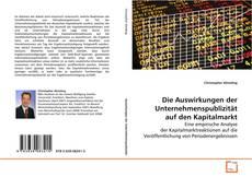 Buchcover von Die Auswirkungen der Unternehmenspublizität auf den Kapitalmarkt