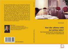 Couverture de Von der ultima ratio zur prima ratio?