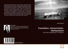 Buchcover von Translation, Interpretation, Manipulation