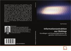 Capa do livro de Informationsextraktion aus Weblogs