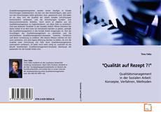 """Capa do livro de """"Qualität auf Rezept ?!"""""""