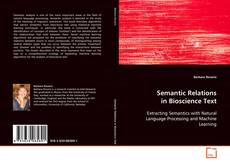 Capa do livro de Semantic Relations in Bioscience Text