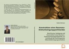 Bookcover of Konstruktion eines Resonanz-Drehschwingungsprüfstandes