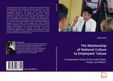 Bookcover of The Relationship of National Culture to Employees' Values