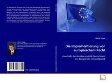 Buchcover von Die Implementierung von europäischem Recht