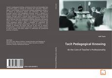 Copertina di Tacit Pedagogical Knowing
