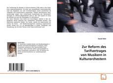 Capa do livro de Zur Reform des Tarifvertrages von Musikern in Kulturorchestern