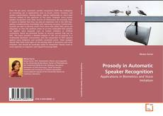 Bookcover of Prosody in Automatic Speaker Recognition