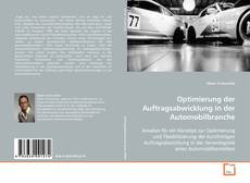 Couverture de Optimierung der Auftragsabwicklung in der Automobilbranche