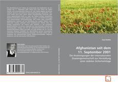 Buchcover von Afghanistan seit dem 11. September 2001