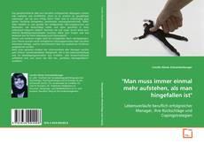 """Portada del libro de """"Man muss immer einmal mehr aufstehen, als man hingefallen ist"""""""