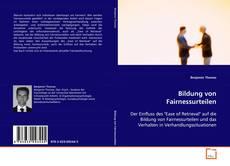 Bookcover of Bildung von Fairnessurteilen