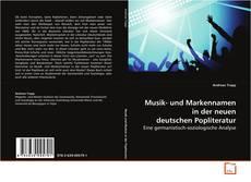 Portada del libro de Musik- und Markennamen in der neuen deutschen Popliteratur