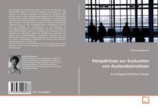 Bookcover of Perspektiven zur Evaluation von Auslandseinsätzen