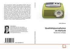 Buchcover von Qualitätsjournalismus im Hörfunk
