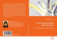 Copertina di Voice Driven Emotion Reconstruction