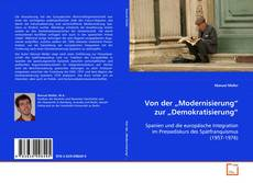 """Portada del libro de Von der """"Modernisierung"""" zur """"Demokratisierung"""""""