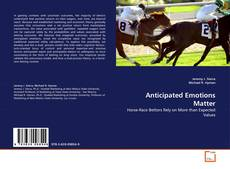 Bookcover of Anticipated Emotions Matter
